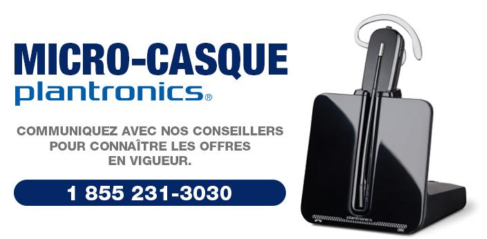 Micro-casques Plantronics : modèle cs540 pour entreprise