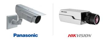 Caméras de surveillance boitier fixe Panasonic et Hikvision