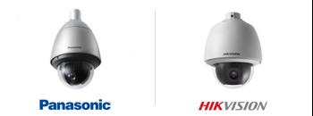 caméras de surveillance, dome motorise de marques Panasonic et Hikvision