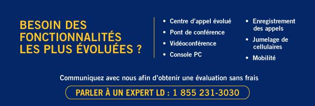 Cloud+ LD : fonctionnalités campagne Les Affaires 855 231-3030